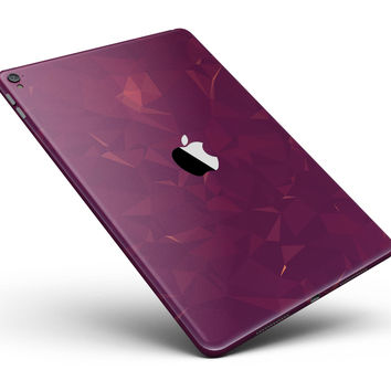 "Dark Pink Geometric V3 Full Body Skin for the iPad Pro (12.9"" or 9.7"" available)"