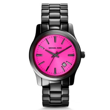 Runway Fuschia and Onyx Watch | Michael Kors
