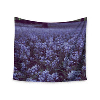 "Ann Barnes ""Bluebell Forest"" Purple Flowers Wall Tapestry"