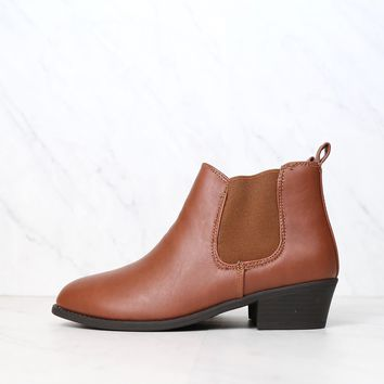 Ankle Chelsea Bootie in Tan