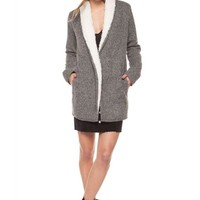 Dex Open Cardigan With Sherpa Lining