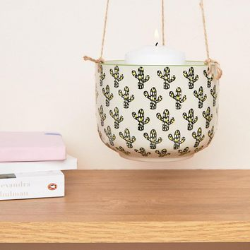 Sass & Belle Polka Dot Cactus Hanging Planter at asos.com