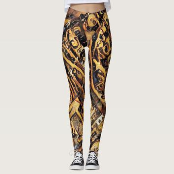 SteamPunk Abstract Leggings