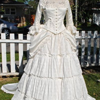 Christine's Wedding Gown from Phantom of the Opera.....custom sizes and colors Victorian Wedding Gown
