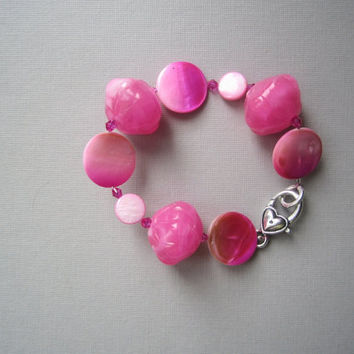 Shocking Pink Neon Statement Bracelet
