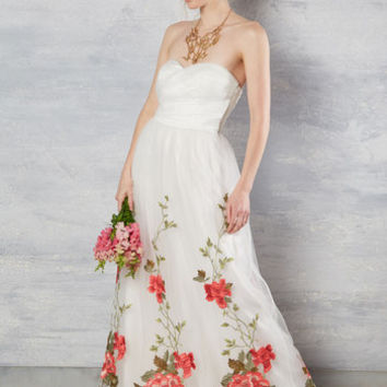 All the Way to the Banquet Dress in White