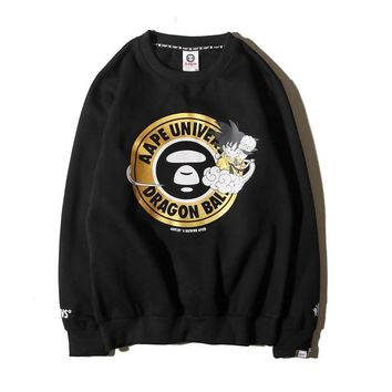 Aape Bape Bronzing Circles Ape Head Plus Velvet Crew Neck Sweater M ~ 2xl | Best Deal Online
