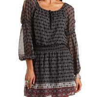 Cold Shoulder Peasant Dress by Charlotte Russe