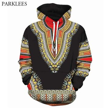 3D African Print Black Sweatshirts Men Women Hoodie 2018 Autumn New Hipster Male Tracksuit Sweat Homme Hip Hop Dashiki Clothing