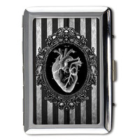 Black Heart Money/card/cigarette case printed on both sides