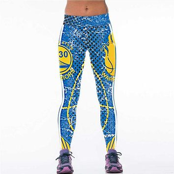 Golden State Warriors 3D Printed Team Leggings