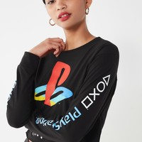 PlayStation Long Sleeve Cropped Tee | Urban Outfitters