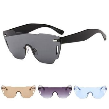 Men's Retro Punk Aviator RimlessSport Sunglasses Outdoor Eyewear Eye Glasses