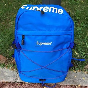 CASUAL Supreme Canvas Backpack College High School Bag Travel Bag H 8-26