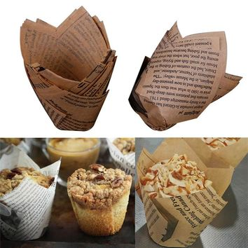 50 pcs/lot Cooking Tools Christmas Baking Cups Cake Paper Baking Cups  Grease-proof Cake Liners Muffin Kitchen Cases Mold