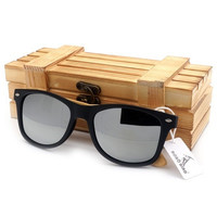 Wooden Sunglasses Polarizing Lens Glass Wood Frame with wooden gift box