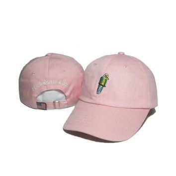 good worth&co brand caps fashion Pink Snapback Hat Hip-Hop Parrot embroidery designer