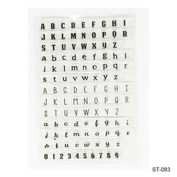 New Letters and Numbers Transparent Silicone Rubber Clear Stamps Scrapbook DIY Photo Album Cards Making Decoration Supplies