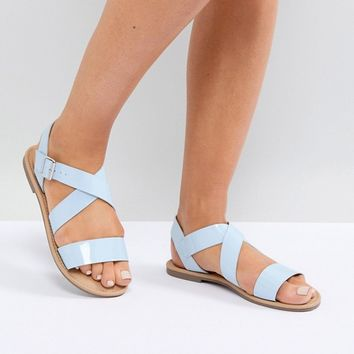 ASOS FELIZ Wide Fit Flat Sandals at asos.com