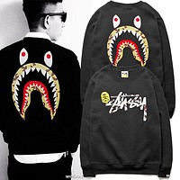Stussy x Aape Men Fashion Print Top Sweater Pullover