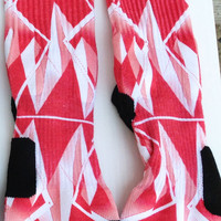 Custom Red Diamond  nike elite crew socks
