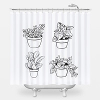 Desk Plants Shower Curtain