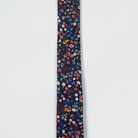 Premium Winter Floral Print Tie in Liberty Art Fabric
