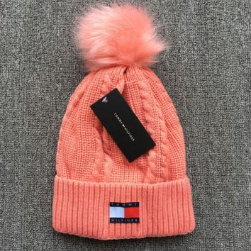 Tommy Hilfiger The new cotton knit cap of 2018, plus qiu dong warm wool hat
