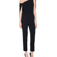 Roland Mouret Carlton One-Shoulder Jumpsuit