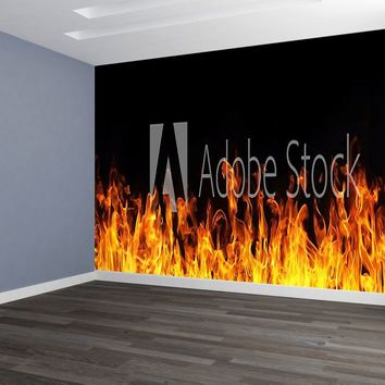 Flames Custom Designed Wallpaper Peel and Stick