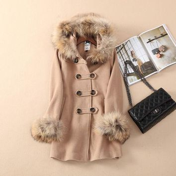 Wool Coat Winter Korean Hats Jacket [9515499908]