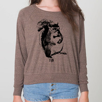 Hipster Squirrel American Apparel Womens by EnlightenedState
