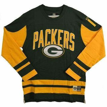 NFL Dufferin Fleece Long Sleeve Shirt - Green Bay Packers - Large