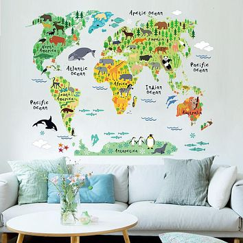 Bestseller Colorful World Map Wall Sticker Vinyl