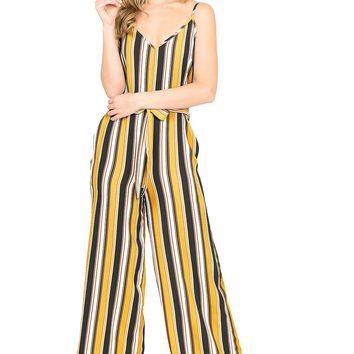 Jump In Stripe Jumpsuit