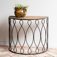 Marbella Small Rustic Accent Table