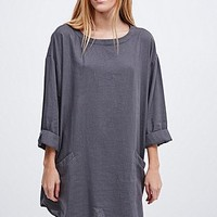 Ecote Cocoon Dress in Indigo - Urban Outfitters