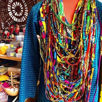 Summer African Print Necklace - Special Order