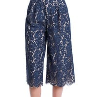 About Yesterday Lace Culottes - Navy