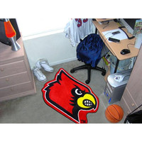 Louisville Cardinals NCAA Cut-Out Floor Mat