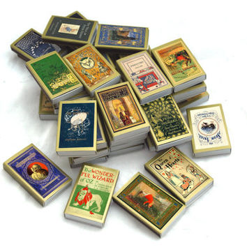 Fifty (50) Wholesale Golden Book Covered Matchboxes - Paper Art - Light a Literary Spark