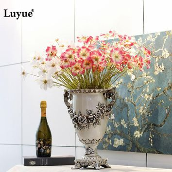 Luyue Artificial flowers fake Cosmoses lifelike silk flowers for Wedding home decoration centerpiece flowers Party Decor 4 color