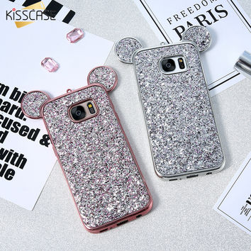 Lovely Cute Mickey Mouse Soft Silicone Case For Galaxy S8 S8 Plus S7 S6 Edge Cover