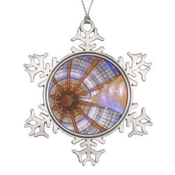 Stained Glass Christmas Snowflake Ornament