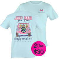 """Simply Southern """"Preppy Jeep"""" T-shirt"""