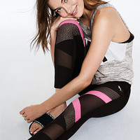 Cotton High Waist Mesh Ankle Legging - PINK - Victoria's Secret