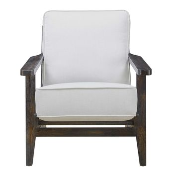 Ryder Accent Chair TAUPE - ESPRESSO WOOD