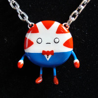 Peppermint Butler Necklace - Bendy Arms & Legs - ADVENTURE TIME - polymer clay