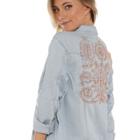 Somedays Lovin Embroidered Chambray Jacket