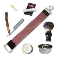 Straight Razor Classical Ultimate 7 Pcs Shaving Set